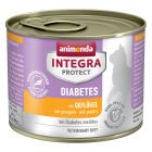 Animonda Integra Protect Adult Diabetes, puszki, 6 x 200 g