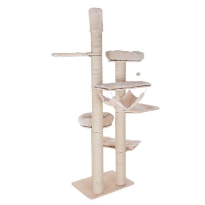 arbre a chat natural paradise xl fixation plafond