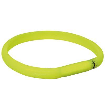 Banda luminosa verde Trixie con USB para perros