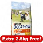 BETA (Dog Chow) Dry Dog Food Bonus Bags - 14kg + 2.5kg free!*