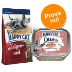 Blandpack: Happy Cat Adult 1,4 kg + 12 x 100 g Happy Cat Duo