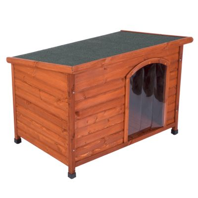 Caseta de madera Woody Premium con puerta para perros