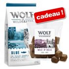 Croquettes Wolf of Wilderness 12 kg + 180 g de friandises Wolf of Wilderness Bouchées au canard