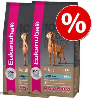 Ekonomično pakiranje: Eukanuba 2 x 12/12,5/15 kg