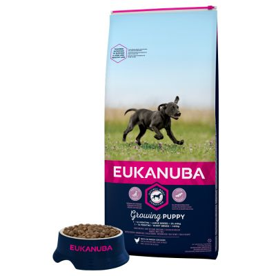 eukanuba growing puppy large breed poulet croquettes. Black Bedroom Furniture Sets. Home Design Ideas