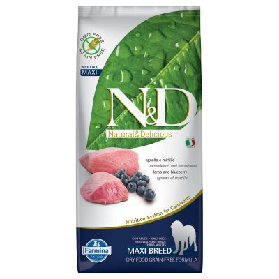 Farmina N&D Grain Free Adult Maxi Agnello e Mirtillo
