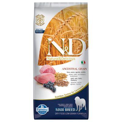 Farmina N&D Low Ancestral Grain Adult Maxi con cordero y arándanos