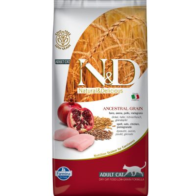 Farmina N&D Low Grain Adult Cat Pollo e Melograno