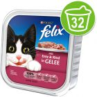 Felix Bites in Jelly 32 x 100g