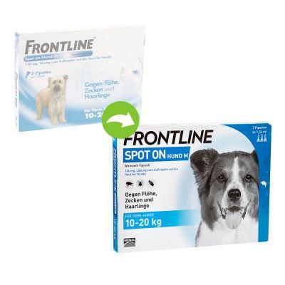 frontline spot on hund m g nstig zooplus. Black Bedroom Furniture Sets. Home Design Ideas