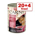400g Animonda Carny Wet Cat Food - 20 + 4 Free!*