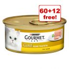 85g Gourmet Gold Wet Cat Food - 60 + 12 Free!*
