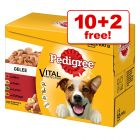 100g Pedigree Dog Food Pouches in Jelly - 10 + 2 Free!*