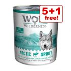 800g Wolf of Wilderness Wet Dog Food - 5 + 1 Free!*