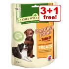 225g/90g James Wellbeloved CrackerJacks/MiniJacks Dog Treats - 3 + 1 Free!*