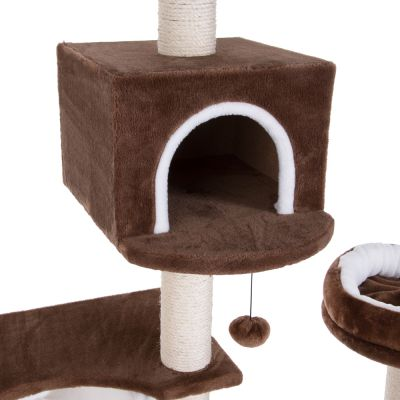 Gingerbread House Cat Tree with Ladder