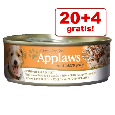 20 + 4 gratis! Applaws in Gelatina 24 x 156 g