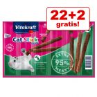 22 + 2 gratis! 24 x 6 g Vitakraft Cat Stick Mini