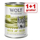 1 + 1 gratis! 2 x 400 g Wolf of Wilderness