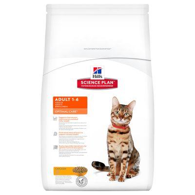 Hill's Adult Optimal Care con pollo para gatos
