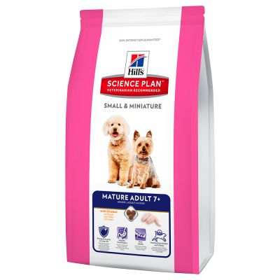 Hill's Science Plan Canine Small & Miniature Mature Adult 7+ Pollo