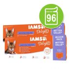 IAMS Delights Adult Land & Sea Kattenvoer 96 x 85 g