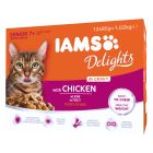 IAMS Delights Senior Kip in Saus Kattenvoer