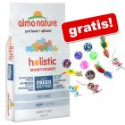 12 kg Almo Nature Holistic + Set Topini & Palline gratis!
