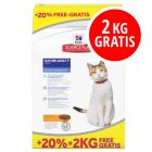10 + 2 kg gratis Hill's Science Plan Katzenfutter