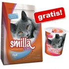 4 kg Smilla Kattenvoer + Smilla Belonings-Snacks Hearties gratis!