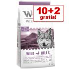 10 + 2 kg zdarma! 12 kg Wolf of Wilderness granuly