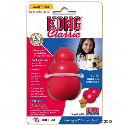 KONG Classic vermelho brinquedo recheável para cães
