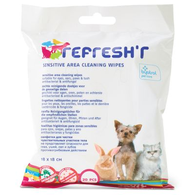 Lingettes désinfectantes Savic Refresh'r Sensitive