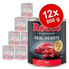 Lot Rocco Real Hearts 12 x 800 g pour chien
