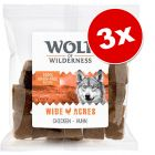 Lot Wolf of Wilderness Bouchées 3 x 180 g pour chien