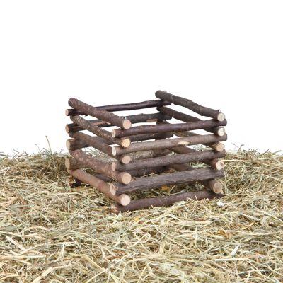 Mangeoire à foin Natural Living pour rongeur et lapin - L 15 x l 15 x H 11 cm xUj5FovFjc