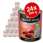 Megapakiet Animonda GranCarno Sensitive, 24 x 800 g