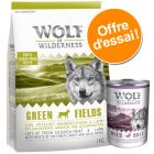 Offre d'essai Wolf of Wilderness croquettes + boîtes