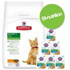 Pack bi-nutrition : croquettes + sachets Hill's Science Plan Feline Kitten pour chaton