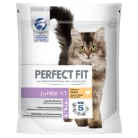 PERFECT FIT Junior <1 Riche en poulet pour chat