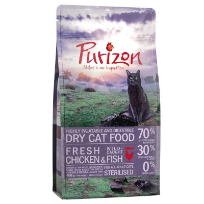 Purizon Adult Sterilised Chicken Amp Fish Cat Food Only At