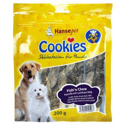 Rollitos Cookie's Delikatess Fish´n Chew con piel de salmón