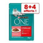 Sachets PURINA ONE pour chat 8 x 85 g + 4 sachets offerts !