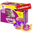 Sachets Whiskas 48 x 100 g pour chat + friandises Whiskas offertes !