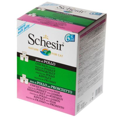 Schesir en gelatina bolsitas 6 x 100 g - Pack mixto