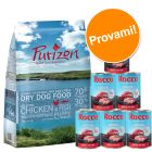 Set prova misto: 1 kg secco Purizon Puppy + 6 x 400 g umido Rocco Junior