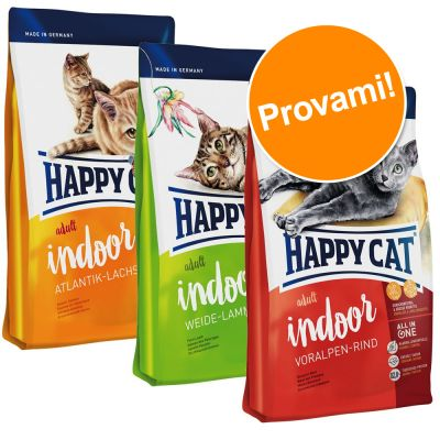 Set prova misto! 3 x 4 kg Happy Cat Indoor Adult
