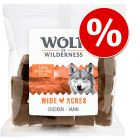Set risparmio! Wolf of Wilderness Snack - Bocconi 3 x 180 g