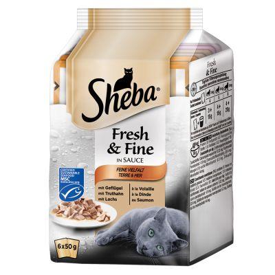 Sheba Fresh Choice Mini Pouch 6 x 50g