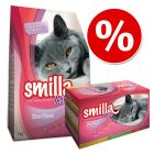 Smilla Adult Sterilised provpack - 1 kg + 12 x 85 g